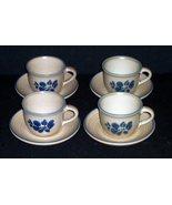 4 Pfaltzgraff FOLK ART Cups & Saucers - $19.99