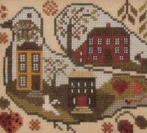 Strawberry Bird cross stitch chart Kathy Barrick Designs