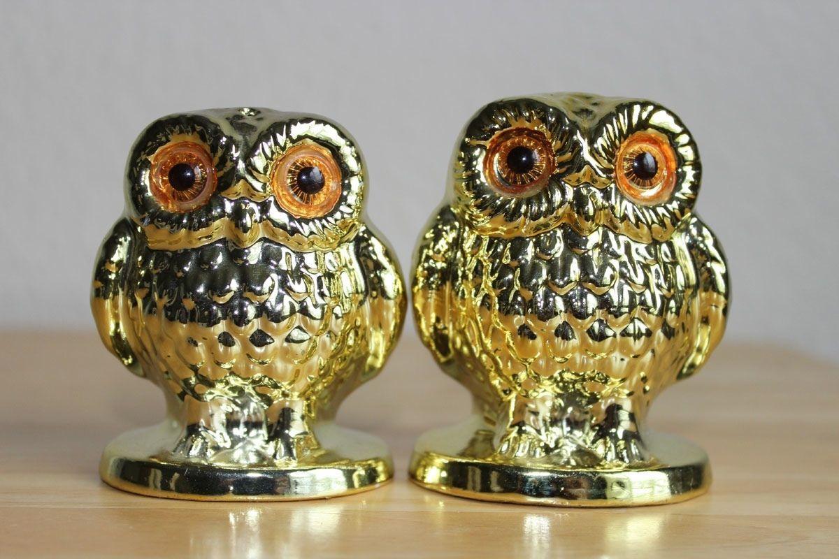 Enesco Gold Owl S Salt And Pepper Shakers 40 Similar Items
