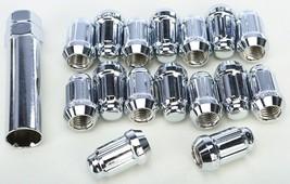 Splined Chrome Lug Nuts Lock Style w/ Key Polaris Rzr, 800 900 1000 Gene... - $25.95