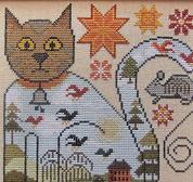 Cat & Mouse cross stitch chart Kathy Barrick Designs
