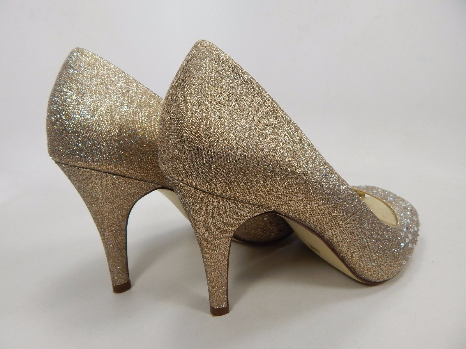 Style & Co Monaee Peep Toe High Heels Pumps Women's Size US 5.5 Gold $65