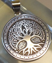 Pendant Celtic Tree of Life Amulet Jewelry 925 sterling silver (c604) Bi... - $39.16