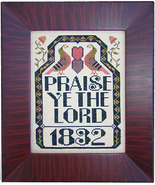 Praise Ye Lord cross stitch chart Carriage House Samplings - $8.10