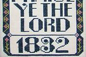 Praise Ye Lord cross stitch chart Carriage House Samplings