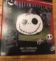 Jack Skellington Airblown Inflatable Pumpkin Jack O Lantern Halloween Ya... - £28.01 GBP