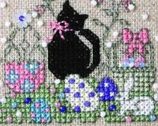 Itty Bitty Kitty Easter Teenie Tweenie cross stitch chart Sweetheart Tree