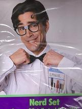 NERD KIT w/GLASSES, NAME TAGS, PCKT PROTECTER, BOWTIE - $9.00