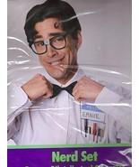 NERD KIT w/GLASSES, NAME TAGS, PCKT PROTECTER, BOWTIE - $9.00