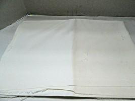 "Lot of Vintage White Cotton Fabric  12 Pieces  40 x 44 & 26 x 40"" - $11.22"