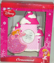 Disney Princess Ornament Sleeping Beauty Pink Photo Frame Castle Christm... - $29.95