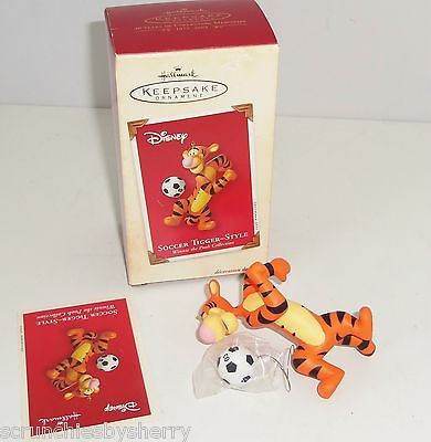 Primary image for Disney Tigger Ornament Soccer Style Hallmark Keepsake Christmas 2003 Pooh New