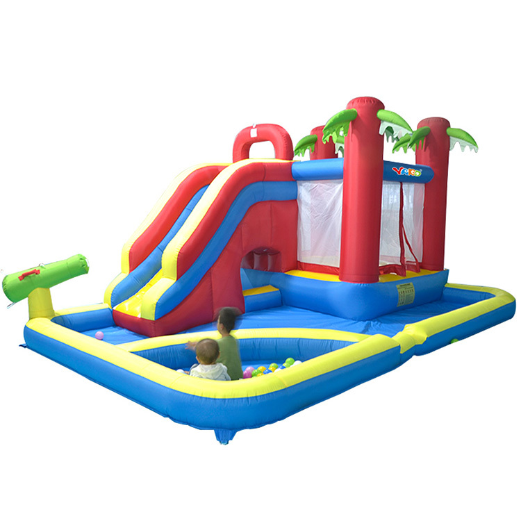yard 8039 bounce house inflatable water slide bouncer pool ball pit with blower