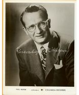 Paul WESTON Columbia RECORDS ORG 1953 Publicity PHOTO - $14.99
