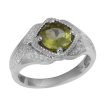 Newest Collection 1.30 Ct Peridot Gemstone 925 Sterling SilverRing Sz L ... - $18.04