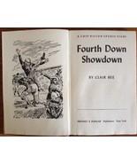 "CHIP HILTON SPORTS STORY ""FOURTH DOWN SHOWDOWN"", BY CLAIR BEE, 1956, VG - $9.50"