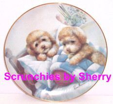 Puppy Pals Collector Plate Bedtime Fun Dog Danbury Mint  - $59.95