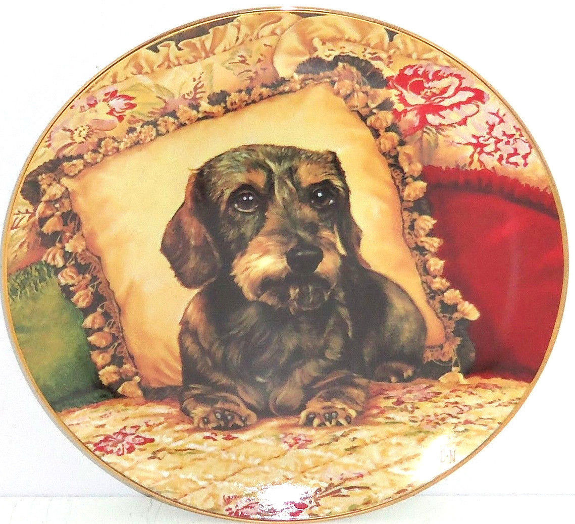 Primary image for Dachshunds Collector Plate Wiener Dog Sweet Dreams Christopher Nick Danbury