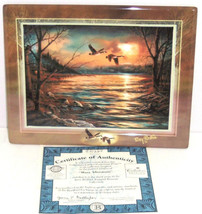 Terry Redlin Tranquil Retreats Plate Collector Hazy Afternoon Sunset Bir... - $59.95