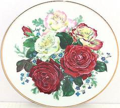 Majesty Roses Fragrant Glory Collector Plate Floral Franklin Mint Vintage - $59.95
