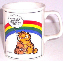 Garfield Cat Ceramic Coffee Mug Enesco Have you Your Hugged Boss 1978 - $39.95