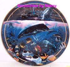 Crystal Waters Maui Collectors Plate Bradford Exchange Ocean Sealife Fis... - $59.95