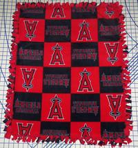 "Los Angeles Angels Baby Blanket Fleece Pet Lap Red Navy 30""x 24"" MLB Bas... - $39.95"