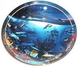 Maui Whale Song Fish Collectors Plate Bradford Exchange Ocean Sealife Vi... - $59.95