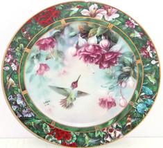 Anna's Hummingbird Collector Plate Lena Liu Bird Treasury Flowers Floral... - $59.95