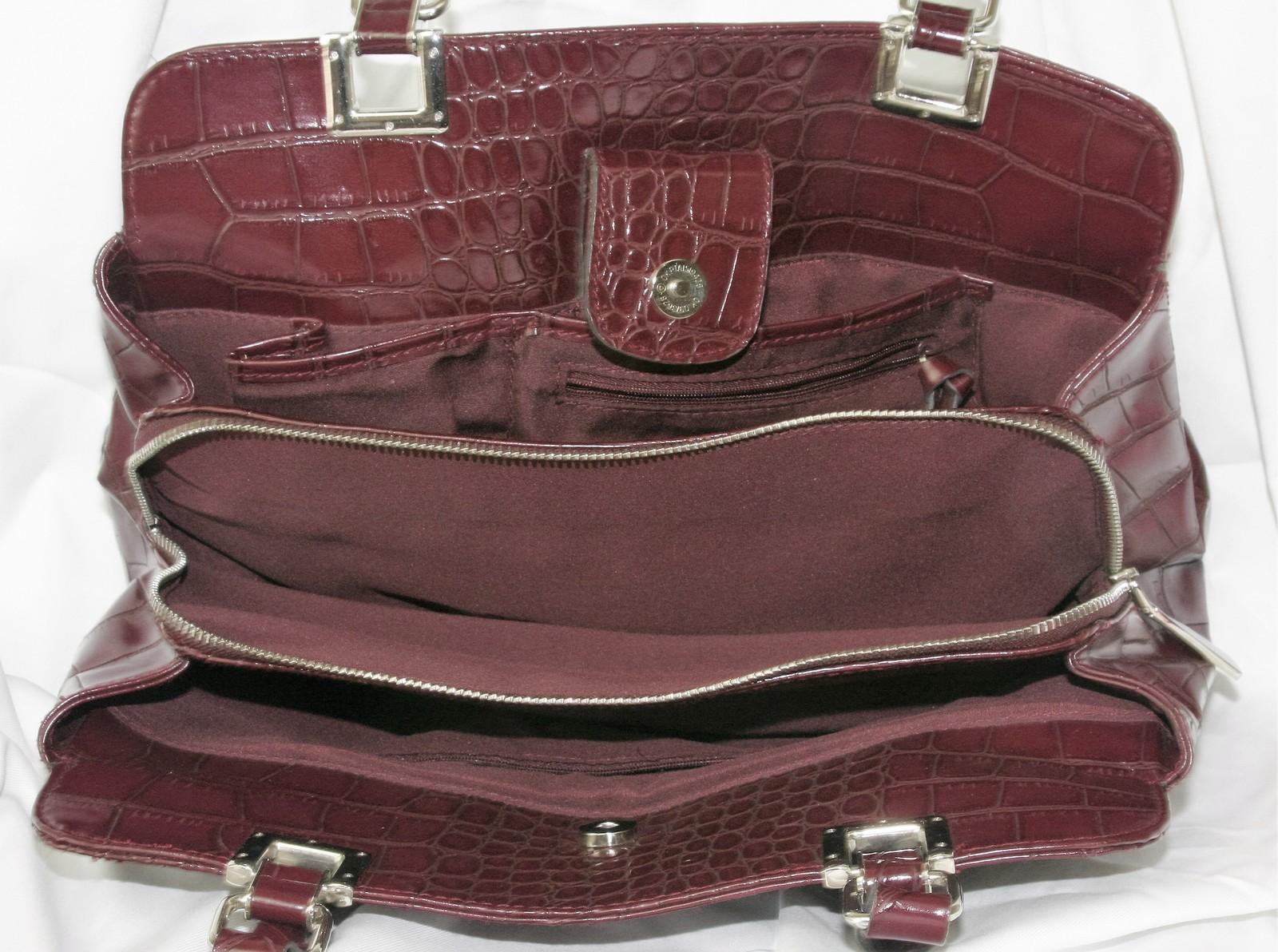 Liz Claiborne  Ladies Embossed Shoulder Bag Laptop Case Purse Handbag