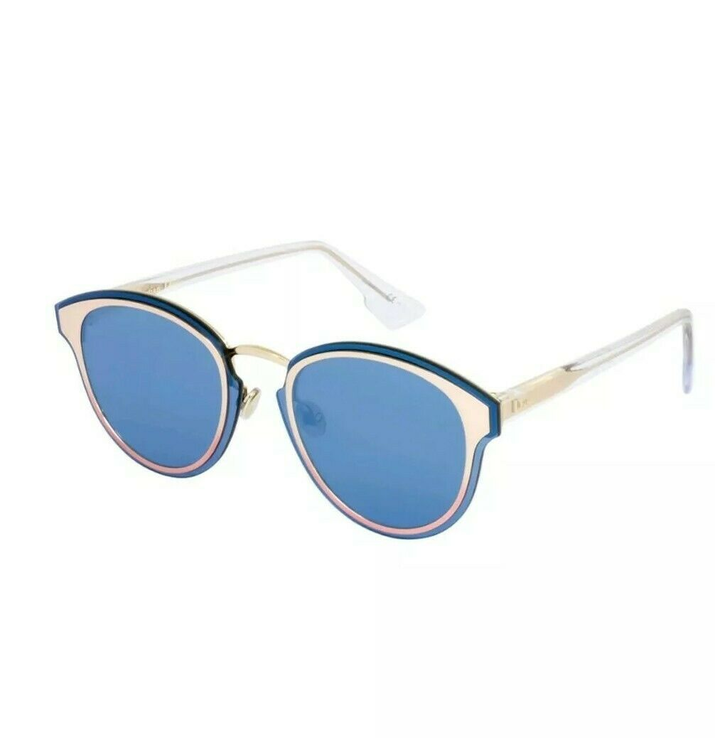 NEW Christian Dior Nightfall Rose Gold Shaded Pink Crystal/Blue 35J2A Sunglass