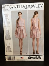 Simplicity Sewing Pattern S0881 Cynthia Rowley Misses Dress 2 Lengths Ne... - $8.99