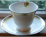 Waterford China Dunmore Cup & Saucer white platinum gold fine china new