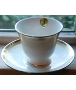 Waterford China Dunmore Cup & Saucer white platinum gold fine china new - $25.50