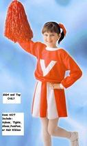 Cheerleader Red and White 4-6 Childs Costume - $20.00