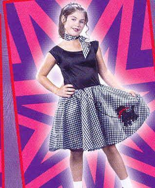 Bobby Soxer Poodle Skirt 50's 12/14 Childs Costume