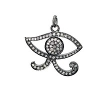 Evil Eye !Vintage Look Rose Cut Diamond Sterling Silver Pendant @CSJ607 Ebay - $291.19