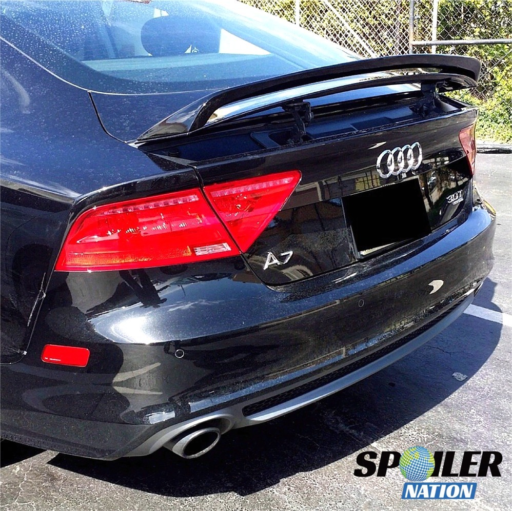 audi a7 rs7 s7 sport wing spoiler unpainted 2010 2011. Black Bedroom Furniture Sets. Home Design Ideas