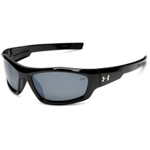 Under Armour UA Power Shiny Black Frame Gray Polarized Mirror Lens Sungl... - $88.92