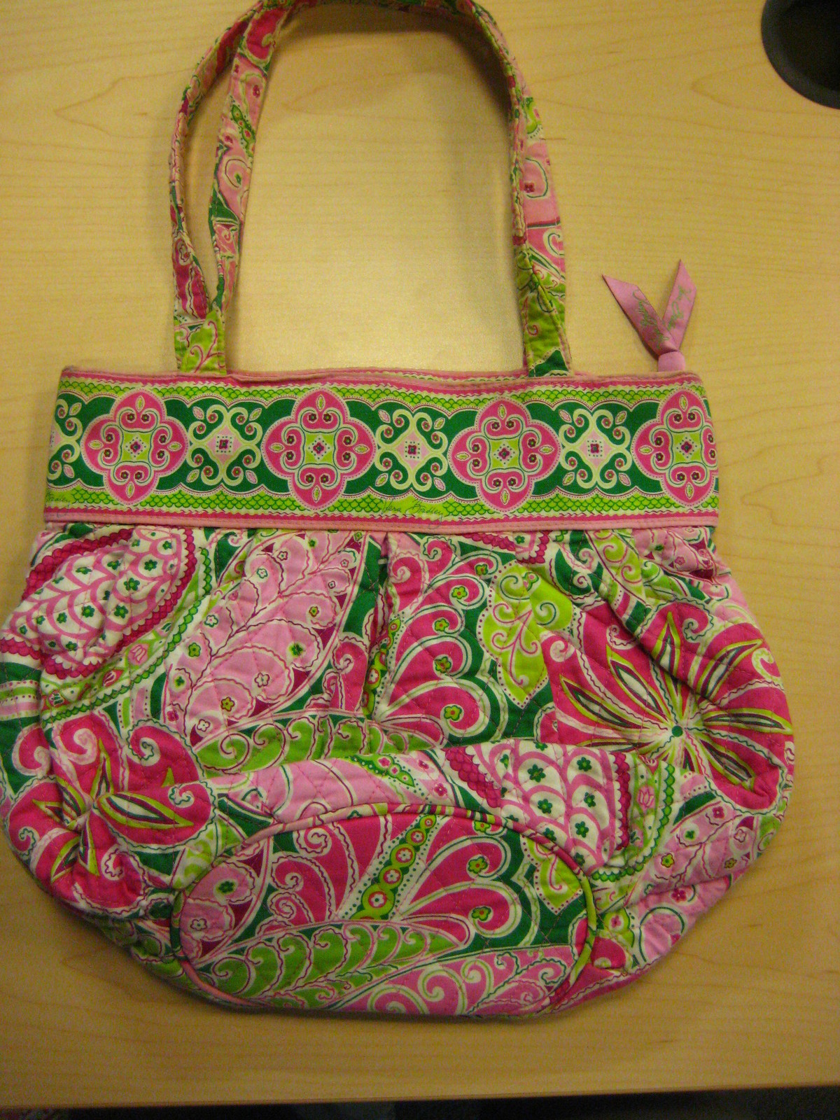 8c0d220b460e VERA BRADLEY Pinwheel pink green quilted and similar items. 033
