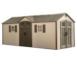 Lifetime 20'W x 8'D Dual Entry Outdoor Storage Shed with 2 Windows (mode... - $2,589.94