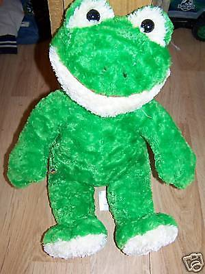 Build A Bear Workshop BABW Plush Green Frog w Laughing Sound EUC