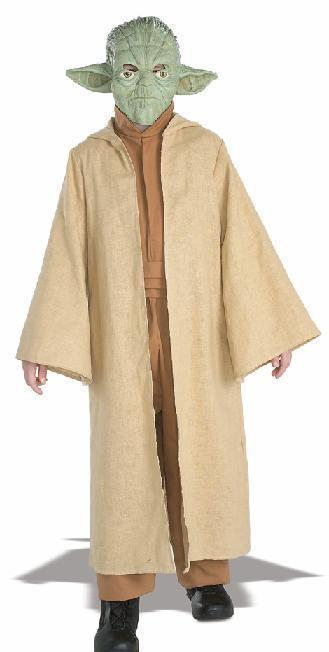 YODA COSTUME WITH MASK LARGE 12/14 CHILD'S SIZE