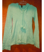 Takeout Aqua Green Pullover Hoodie Sweater Size Large - $7.99