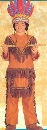 Native American Indian Brave Costume Childs SIZE 12/14