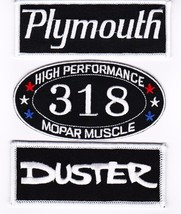 Plymouth: Duster 318 SEW/IRON On Patch Badge Emblem Embroidered Mopar Hemi Car - $13.99
