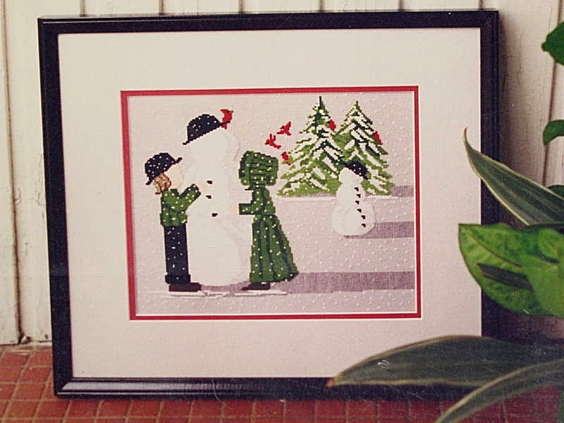 Diane Graebner Cross Stitch pattern Snowman Amish Boy girl winter scene