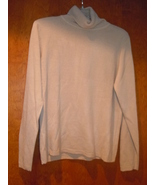 C.C. Hughes Beige Turtleneck Sweater Size Medium - $6.99