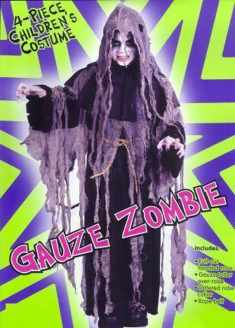 GAUZE ZOMBIE Great Costume 8/10 Childs SIZE