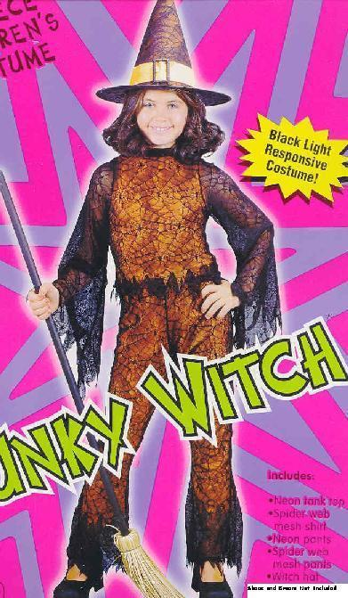 Funky Neon Witch Orange 4/6 Childs Costume
